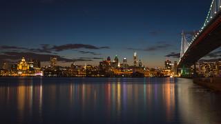 Philadelphia Reflecting at Blue Hour