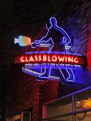 Seattle Glassblowing Studio (skipmoore) Tags: seattleglassblowingstudio neon sign glass night