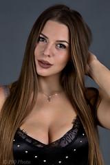 Studio portrait (piotr_szymanek) Tags: kornelia korneliaw portrait studio longhair eyesoncamera woman milf young skinny 1k 20f 50f 5k 100f 10k cleavage 20k 150f 30k closeup