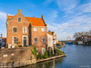 House in Enkhuizen (✦ Erdinc Ulas Photography ✦) Tags: enkuizen city netherlands dutch holland landscape nederland building house panasonic focus green bricks houses traditional plants sky clouds blue fishing roof old architecture window street tree culture stairs