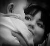 . . . a mothers love (orangecapri) Tags: orangecapri portrait mother baby look eyes face bw blackandwhite xt2 love girl boy