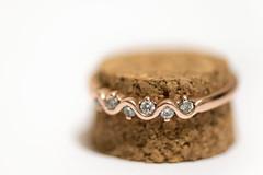 Stepping stones (Amy Maher) Tags: 105mm nikond750 cork rosegold diamonds jewellery ring macro circles macromondays