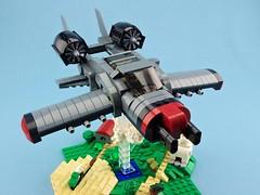 """A-23 """"Drakkensnoot"""" (DA3 Cat 10) (Deltassius) Tags: moc lego plane jet attack war military minifig"""