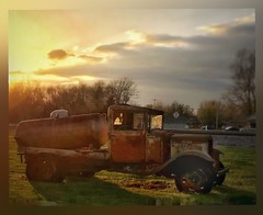 Sunset rust.... (Sherrianne100) Tags: rusty rust sunset oldtruck truck straffordmissouri ozarks missouri
