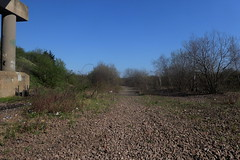 Old railway trackbed from Tinsley Yard, Catcliffe, Sheffield  (former SDR route)   April 2018 (dave_attrill) Tags: ballast parkway april 2018 catcliffe sheffield railway line disused trackbed remains goods sdr sheffielddistrictrailway southyorkshire