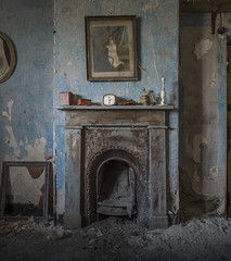 Farm Cottage Fireplace (Forgotten Heritage) Tags: welsh wales cymru fireplace abandoned derelict rural decay