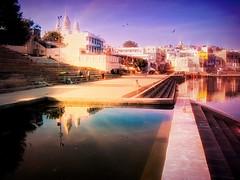 India series (Nick Kenrick..) Tags: india temple hindu reflection sadhu rajasthan ghat