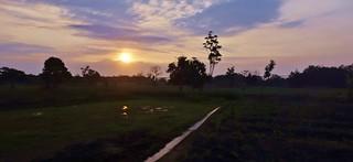 INDONESIEN, Java, Sonnenaufgang  bei Jombang , 17388/9938