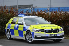 LD67 UYX (S11 AUN) Tags: durham cleveland police bmw 530d xdrive estate touring 5series anpr roads policing rpu traffic car 999 emergency vehicle demonstrator demo bmwcarsuk ld67uyx