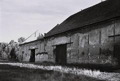 Abandoned barn (kotmariusz) Tags: stodoła barn monochrome poland polska analog światło bw 35mm filmphotography bystrzycadolna ilford olympus