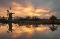 Norfolk How Hill (daveknight1946) Tags: greatphotographers norfolk norfolkbroads sundaylights howhill boardmansdrainagemill drainagemill sunset reflection greaterphotographers mr
