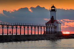 Michigan City Lighthouse (jodell628) Tags: michigan city lighthouse chicago lake sunset