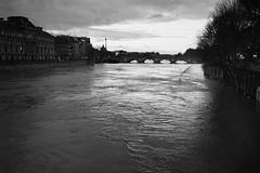 Paris - XVI (Olmar) Tags: summicron35 leicam7 pancro400 bergger analog paris seine france pont crue