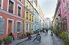 Likes factory (Laurent Pelleray) Tags: colored houses paris street photography cameras young people colours architecture