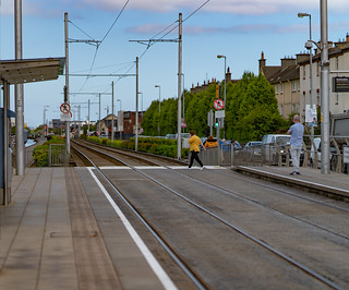 DRIMINAGH LUAS TRAM STOP [THE GOLDENBRIDGE CEMETERY IS ON THE OTHER SIDE OF THE FOOTBRIDGE]-139161