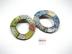 pins (Orson's World) Tags: nikolinaotržan nikolinaotrzan polymerclay texture design mixed media