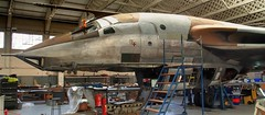 Refurb - RAF Handley Page Victor B(K)1A bomber/tanker XH648, 1959. (edk7) Tags: olympusomdem5 edk7 2018 uk england cambridgeshire duxford duxfordaerodrome imperialwarmuseum iwm mechanical machine engineering royalairforce raf handleypage hp80 victorb1 victorbk1a 4jet jet mediumbomber tanker vbomber crescentwing aviation aircraft plane airplane military armstrongsiddeleysapphireassa7turbojet11000lbf fourengine