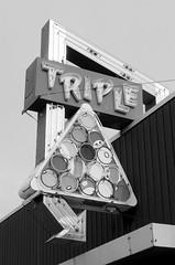 Triple (dangr.dave) Tags: richmond va virginia rva historic downtown architecture triple poolhall neon neonsign rack