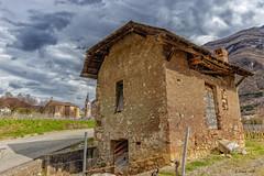 Chignin, sur la route des vins de Savoie. (gerardcarron) Tags: chignin 1022 batiments cabane canon80d church ciel cloud eglise hiver hut landscape nature nuages paysage savoie