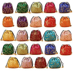 Silk brocade jewellery pouch bags set (mywowstuff) Tags: gifts gadgets cool family friends funny shopping men women kids home