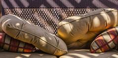 Patio, Cushions & Sun Shadows_MG_0011 (918monty) Tags: stilllife patiofurniture pillows patios shadows sunandshadows shadowplay planotexas decorative decorativepillows canesettees visualbalance lighting cushions