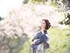 桜風 (HarQ Photography) Tags: zhongyioptics speedmaster85mmf12 fujifilm fujifilmxseries gfx50s portrait sakura cherryblossom japan nara model kimono wind spring