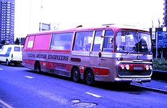 Slide 116-81 (Steve Guess) Tags: north woolwich london england gb uk becton bedford val racing car transporter bjh105f velcar motor engineers