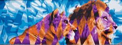 IMGP9543 Lions (Claudio e Lucia Images around the world) Tags: murales graffiti graffito paintedwall murale milano greco viazuretti face streetart art wall walkingthecity pentax pentaxk3ii pentax18135 ritratto animale lion lioness cats feline