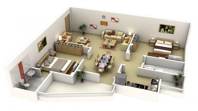 PLAN 3D , PROJECTS (FARISDECOR (expert Décoration )) Tags: Decoration  Interior Intérieure