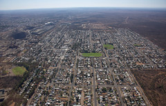 Broken Hill from the north (bobarcpics) Tags: aerialphotography brokenhill suburbs streetpattern streetgrid