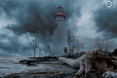 Marblehead_Lighthouse (Adwin Lorance) Tags: marblehead sandusky water lighthouse evening windy storm