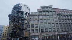 Franz Kafka Statue by David Černý, Quadrio Shopping Centre, Nové město, Prague, Czech Republic (David McKelvey) Tags: 2018 europe czech republic prague praha novéměsto quadrio shopping centre franz kafka statue