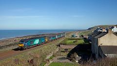 Cat But No Dog (Richie B.) Tags: 2c40 parton cumbria drs direct rail services arriva northern trains vossloh caterpillar class 68 68004 68017
