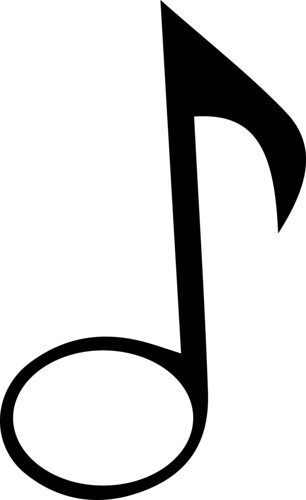 music note for monogram