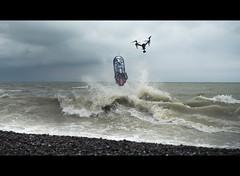 DSC_5903 (Photo-LB) Tags: personne océan mer ciel vague nuage drone eau plage galet letreport letreportjetévénement nikon d800 nikon58mm jet saut lumière couleurs