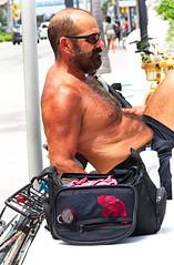 Asleep on beach (LarryJay99 ) Tags: 2018 beach streets people ftlauderdale ocean atlanticocean bikes bicycle men male man guy guys dude dudes manly virile studly stud masculine sexyman shirtless hairy hairyman peekingnipples peekingpits nipples sleeping hotguys candid unsuspecting spyman unaware bulge bulging