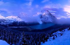 Mount Robson Panorama (mpurciel) Tags: mountrobson britishcolumbia canada backpacking hiking canadianrockies sunset twilight snow mountrobsonpanorama