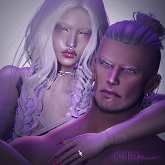 Nothing's Gonna Hurt You Baby (ðஜClix Renfew ஜð) Tags: doux sl secondlife portrait love whitewidow catwa couple tattoos piercings passion dark