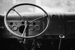 NB#028 (Frédéric ROBIN) Tags: car voiture drive conduire wheel volant travel voyage old ancien transport rust rouille speedometer auto automobile vehicle demeureduchaos adobeofchaos