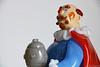 Glass figurine: a beer drinker? (Canadian Pacific) Tags: vintage art glass coloured colored colourful colorful czech czechoslovakian statue figurine character madeinczechoslovakia 2018aimg9853 bohemian