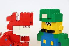Super Mario Characters (Elithecoolperson) Tags: mario mariobros lego legomario supermario nes snes photography canon brick bricks bricksculpture sculpture model legomodel legos