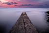 . (Q.Sabourin) Tags: calanques longueexposure couleur plage ponton bulb poseb pink rose violet sunset couchersoleil 13 bouchesdurhône côted'azur cassis pose longue mer sea ciel