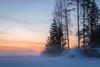 Morning colors (katrinlillenthal) Tags: landscape nature morning sunrise sky fog trees winter snow beautyinnature colors rocks