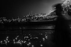 Ganga | Varanasi 2017 (Vijayaraj PS) Tags: nikon varanasi kasi india heritage ganga ganges water river incredibleindia outdoor ghats asia blackandwhite monochrome background grey grains boat sky bird