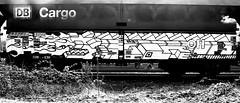 graffiti on freighttrains (wojofoto) Tags: amsterdam nederland netherland holland graffiti streetart wojofoto wolfgangjosten freighttraingraffiti freighttrain fr8 cargotrain vrachttrein delta zwartwit blackandwhite monochrome