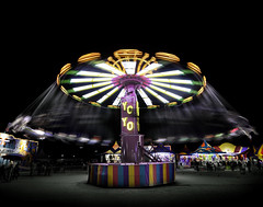 024693763282-97-The Yo Yo Spinning at the Clark County Fair-1 (Jim There's things half in shadow and in light) Tags: 2018 america april clarkcountyfairandrodeo mojave nevada night southwest usa carnival desert lights ridespeople motionblur