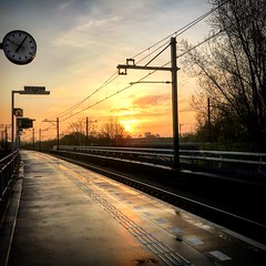 About this morning... (Dynaries) Tags: duivendrecht amsterdam trein train rails rail railway metro underground prorail ns nederlandsespoorwegen intercity sprinter ringspoorbaan adam diemen weesp schiphol airport vliegveld treinen treinleven iphone zon zonsopkomst natuur nature sunset almere amersfoort amstel 2018 sky railroa