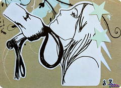 SerenaAzureth_ATC_Whipping2 (SerenaAzureth) Tags: serenaazureth handdrawn sketch drawing atc artist trading card pen swapbot swap bot adult erotic bdsm slave master bondage sexy lady whip whipping