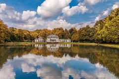 Reflection pond (cstevens2) Tags: antwerp antwerpen anvers mirrorpond reflection rivierenhof spiegelvijver autumn fall herfst weerspiegeling park parc kasteel castle