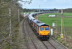 Off The WCML (whosoever2) Tags: uk united kingdom gb great britain england nikon d7100 train railway railroad april 2018 hartford cheshire wcml gbrf class66 66750 6e09 drax biomass liverpool